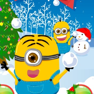 minions christmas snowball wars - Minions Christmas